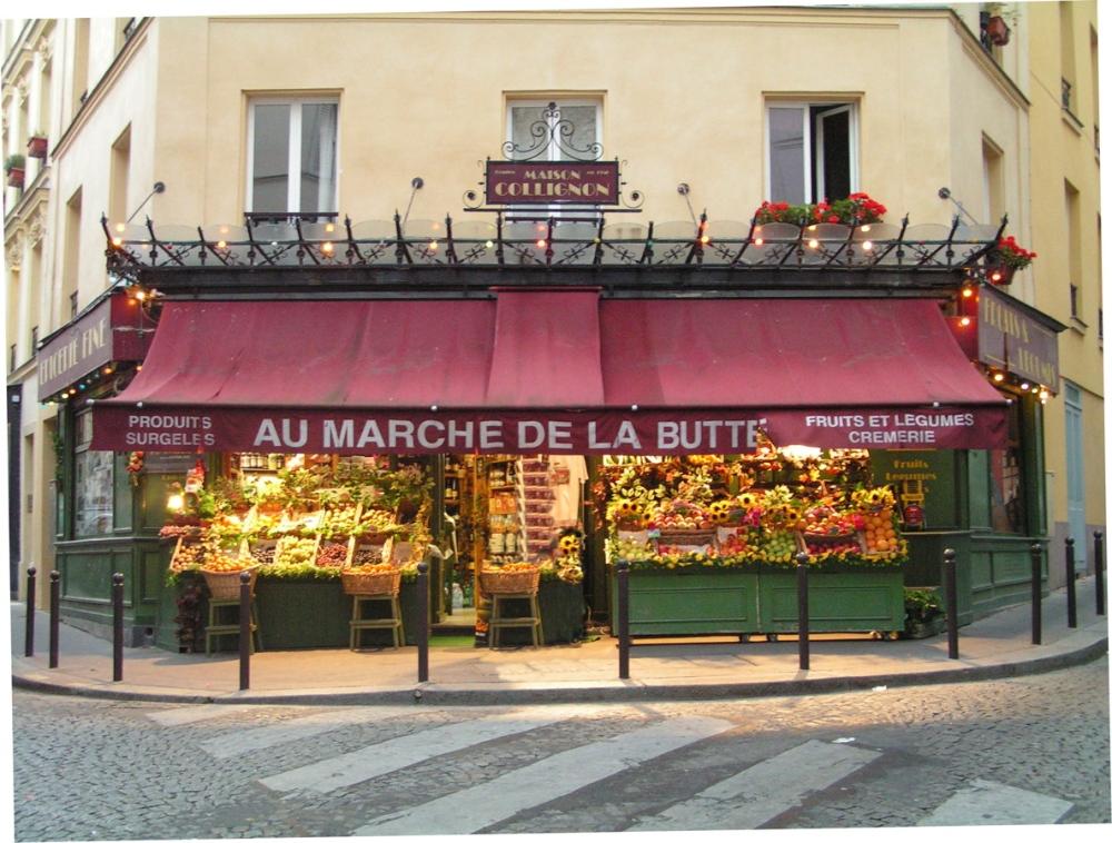 L'épicerie of Monsieur Collignon, Rue des Trois Frères, Paris.